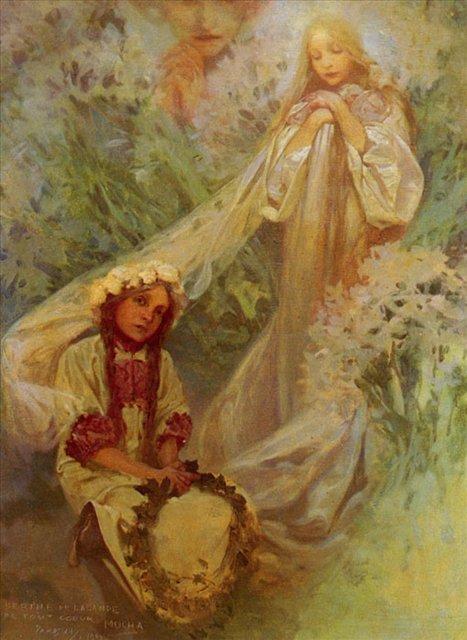картина Мария - мадонна лилий :: Альфонс Муха ( Чехия, Чехословакия ) - Муха Альфонс фото