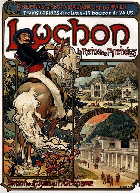рекламный плакат Баньер-де-Люшон :: Альфонс Муха ( Чехия, Чехословакия )  - Alfons Maria Mucha фото