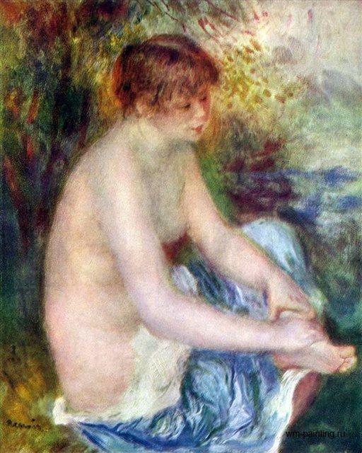 Купальщица в голубом :: Ренуар Пьер Огюст ( Франция - Pierre-Auguste Renoir фото