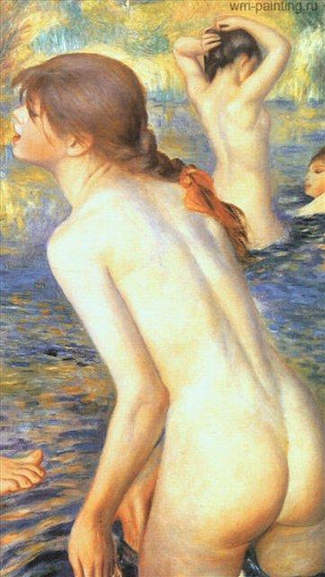 эротическая картина Большие купальщицы :: Ренуар Пьер Огюст ( Франция) - Pierre-Auguste Renoir фото