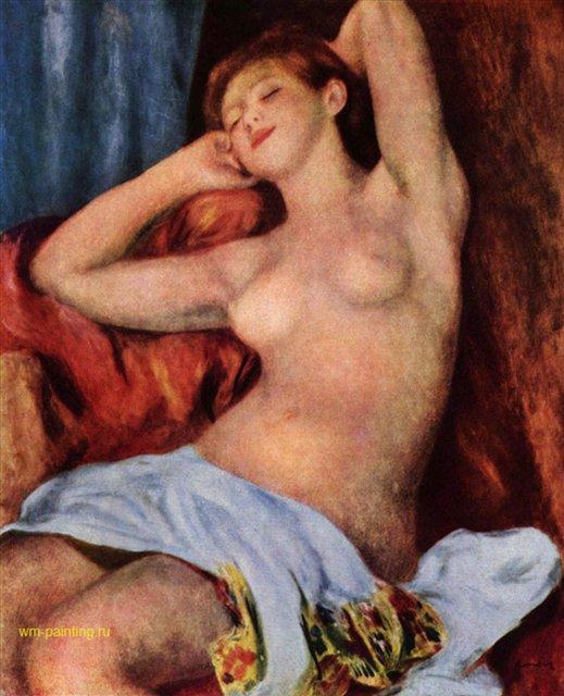 Спящая купальщица :: Ренуар Пьер Огюст ( Франция ) - Ренуар Огюст ( new ) фото