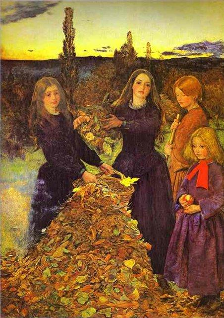 картина <Осенние листья>  :: Джон Эверет Миллес ( Великобритания ) - Миллеc Джон фото
