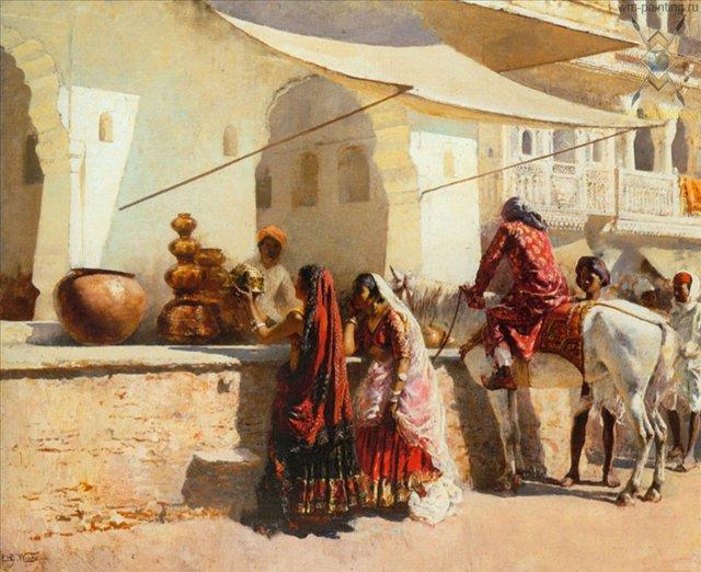 картина Уличная сцена возле рынка (Индия?) :: лорд Едвин Викс ( США ) - Архитектура фото