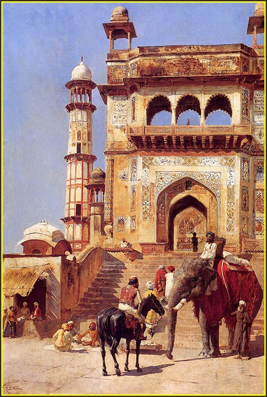 картина Перед мечетью :: лорд Едвин Викс ( США ) - Архитектура фото
