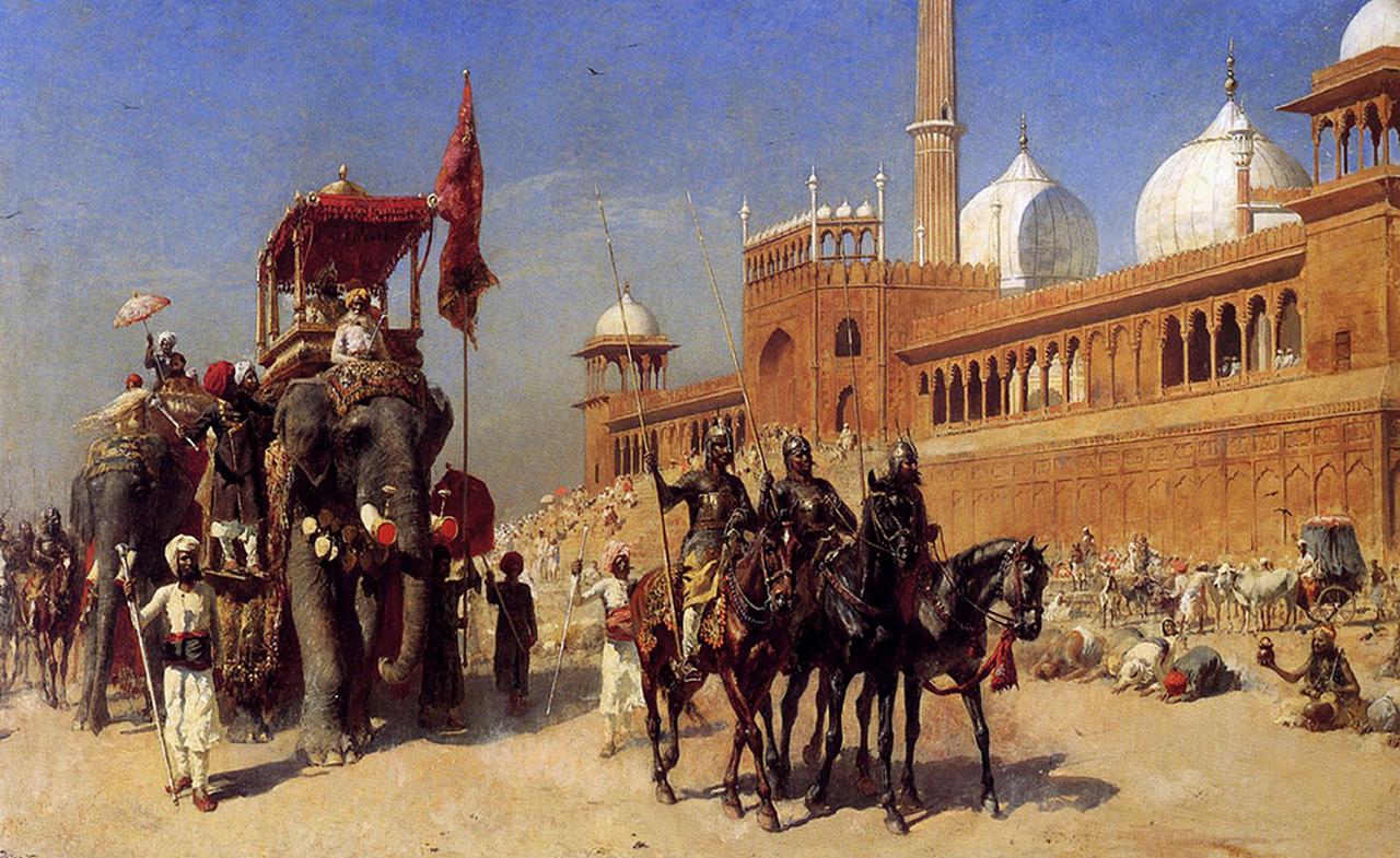 картина Великий могол и его стража возле великой мечети :: лорд Едвин Викс ( США ) - Архитектура фото