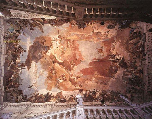 Аполлон и континенты :: Джованни Баттиста Тьеполо ( Италия ) - Фрески, монументальная живопись, роспись стен фото