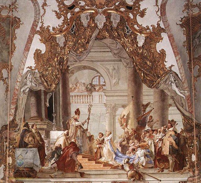 Свадьба Фридриха Барбароссы и Беатрисы Бургундской :: Тьеполо - Фрески, монументальная живопись, роспись стен фото