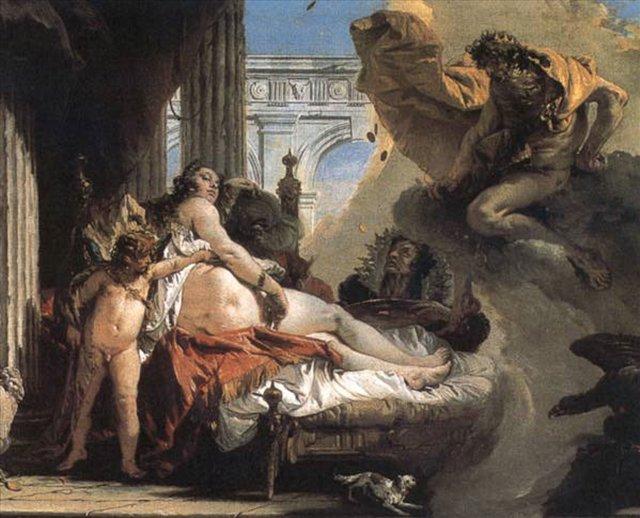 Юпитер и Даная :: Джованни Баттиста Тьеполо ( Италия ) - Фрески, монументальная живопись, роспись стен фото