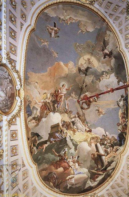 фрески Тьеполо, 2 часть, Апофеоз испанской монархии ( Слава Испании ) :: Джованни Баттиста Тьеполо ( Италия ) - Фрески, монументальная живопись, роспись стен фото