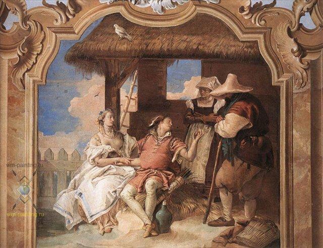 Анджелика и Медор у пастухов :: Джованни Баттиста Тьеполо - Фрески, монументальная живопись, роспись стен фото