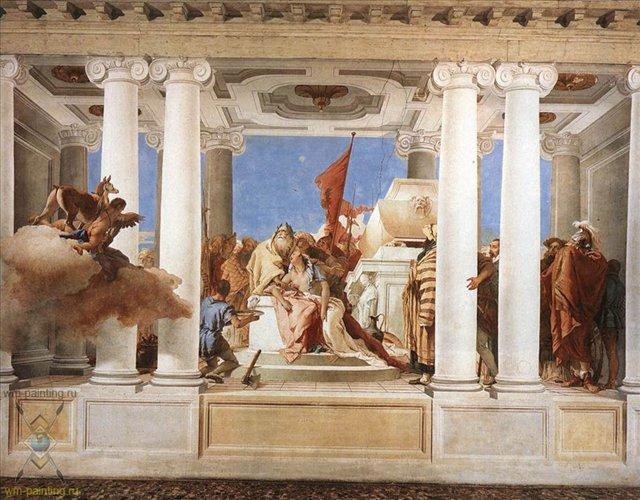 фрески Тьеполо, 3 часть, Жертвоприношение Ифигении - Фрески, монументальная живопись, роспись стен фото