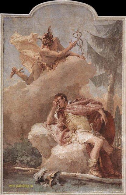 Меркурий ( Апполон ) яляется Энею Джованни Баттиста Тьеполо ( Италия ) - Фрески, монументальная живопись, роспись стен фото