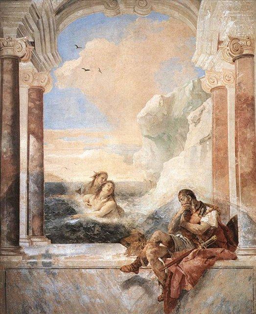 Фетида утешает Ахилла :: Джованни Баттиста Тьеполо ( Италия ) - Фрески, монументальная живопись, роспись стен фото