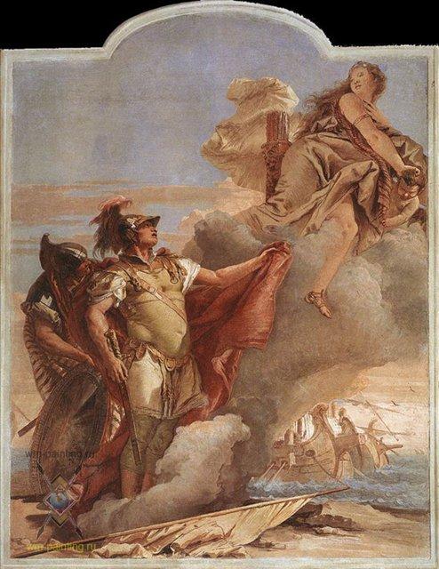 Венера является Энею у берегов Карфагена :: Джованни Баттиста Тьеполо ( Италия ) - Фрески, монументальная живопись, роспись стен фото