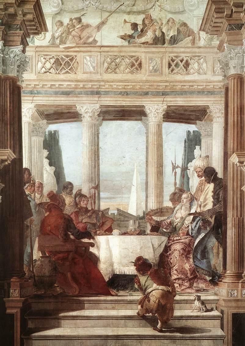 Пир Клеопатры :: Джованни Баттиста Тьеполо ( Италия ) - Фрески, монументальная живопись, роспись стен фото