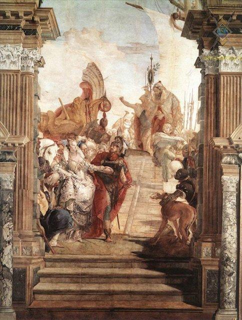 Встреча Антония и Клеопатры :: Джованни Баттиста Тьеполо ( Италия ) - Фрески, монументальная живопись, роспись стен фото