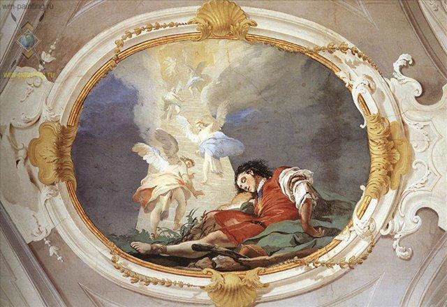 Видение Якоба :: Джованни Баттиста Тьеполо ( Италия ) - Фрески, монументальная живопись, роспись стен фото