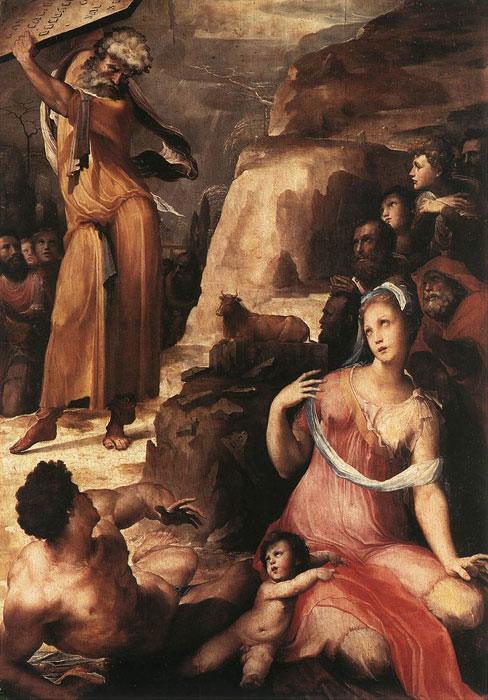 Моисей и золотой телец :: Доменико Бекафьюми - Библейские сюжеты в живописи фото