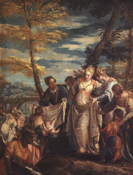 картина Обретение Моисея египетской царицей  :: Паоло Веронезе - Библейские сюжеты в живописи фото