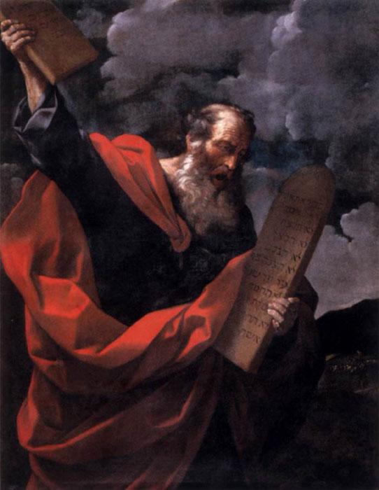 Моисей с заповедями :: Рени Гвидо - Библейские сюжеты в живописи фото