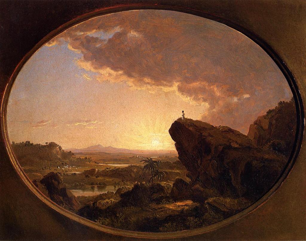 Моисей смотрит на землю обетованную :: Фредерик Едвин Чётч - Библейские сюжеты в живописи фото