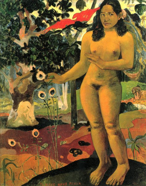 Прекрасная страна (Te nave nave fenua) :: Поль Гоген, картина ню, эротика в живописи - Paul Gauguin фото