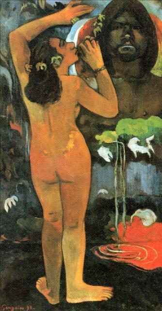 Луна и Земля (Hina tefatou) :: Поль Гоген - Гоген Поль ( Paul Gauguin ) фото