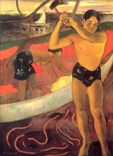 Мужчина с топором  :: Поль Гоген - Гоген Поль ( Paul Gauguin ) фото