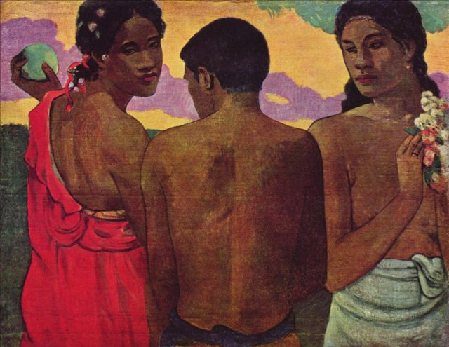 картина Разговор на Таити :: Поль Гоген - Гоген Поль ( Paul Gauguin ) фото