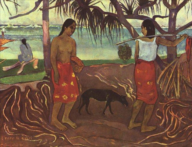 пейзажи Таити I Raro Te Oviri  :: Поль Гоген - Гоген Поль ( Paul Gauguin ) фото