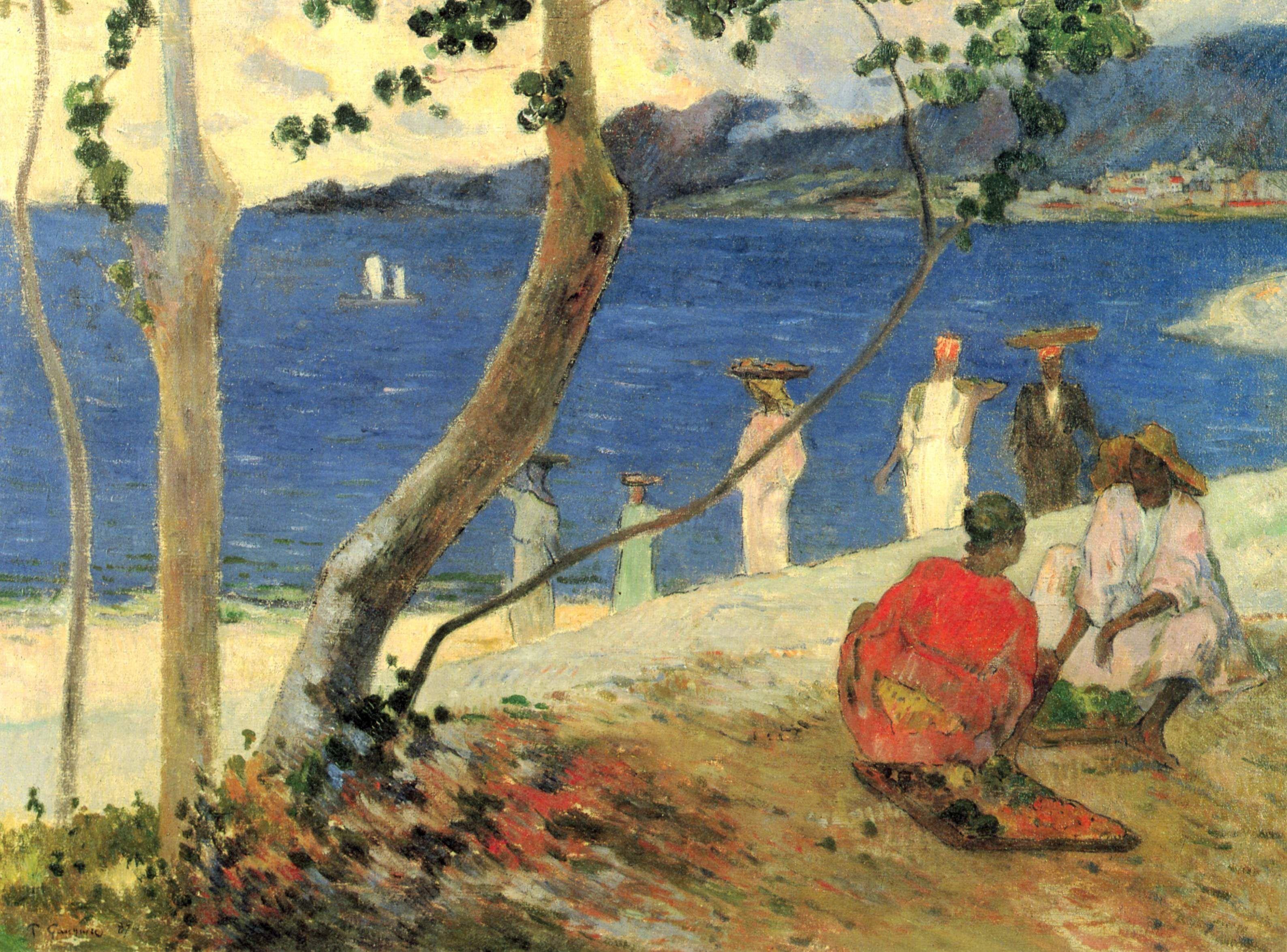 Морское побережье  :: Поль Гоген [ морской пейзаж ] - Гоген Поль ( Paul Gauguin ) фото