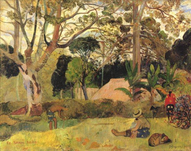 пейзаж <Te raau rahi  ( Большое дерево ) >  :: Поль Гоген - Гоген Поль ( Paul Gauguin ) фото