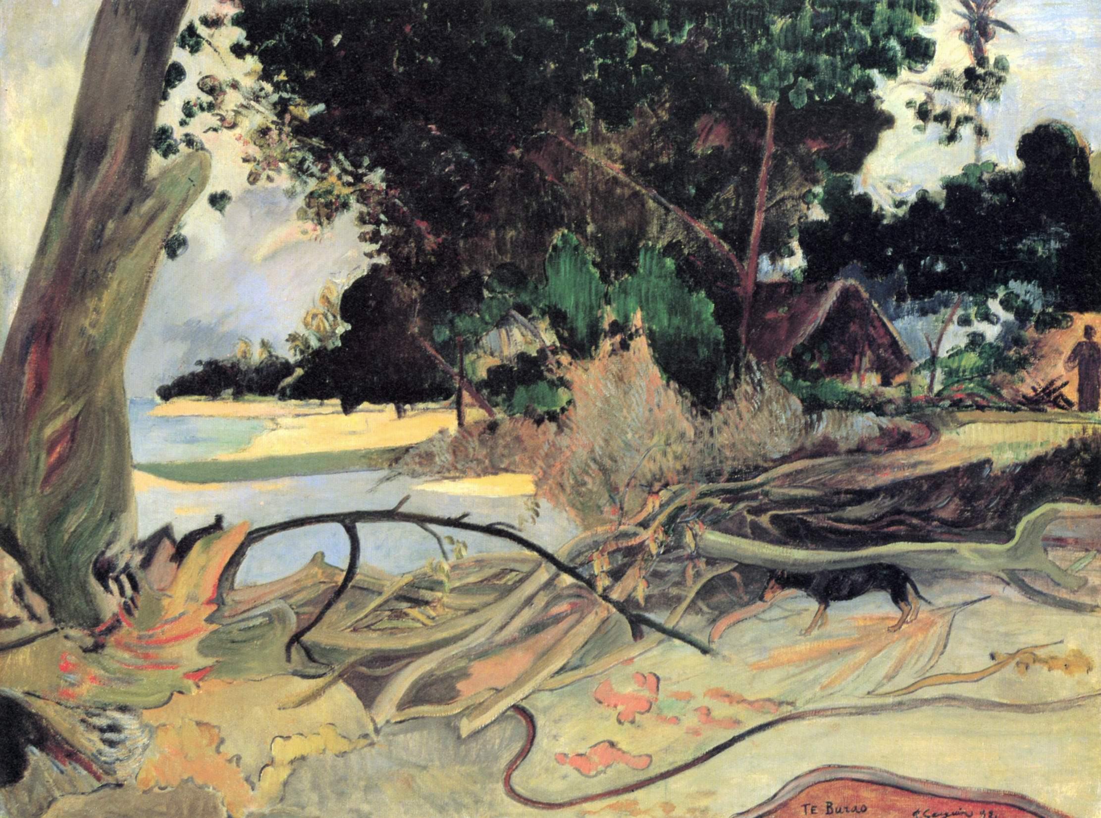 пейзаж < Толстое дерево (Te burao)  > :: Поль Гоген - Гоген Поль ( Paul Gauguin ) фото