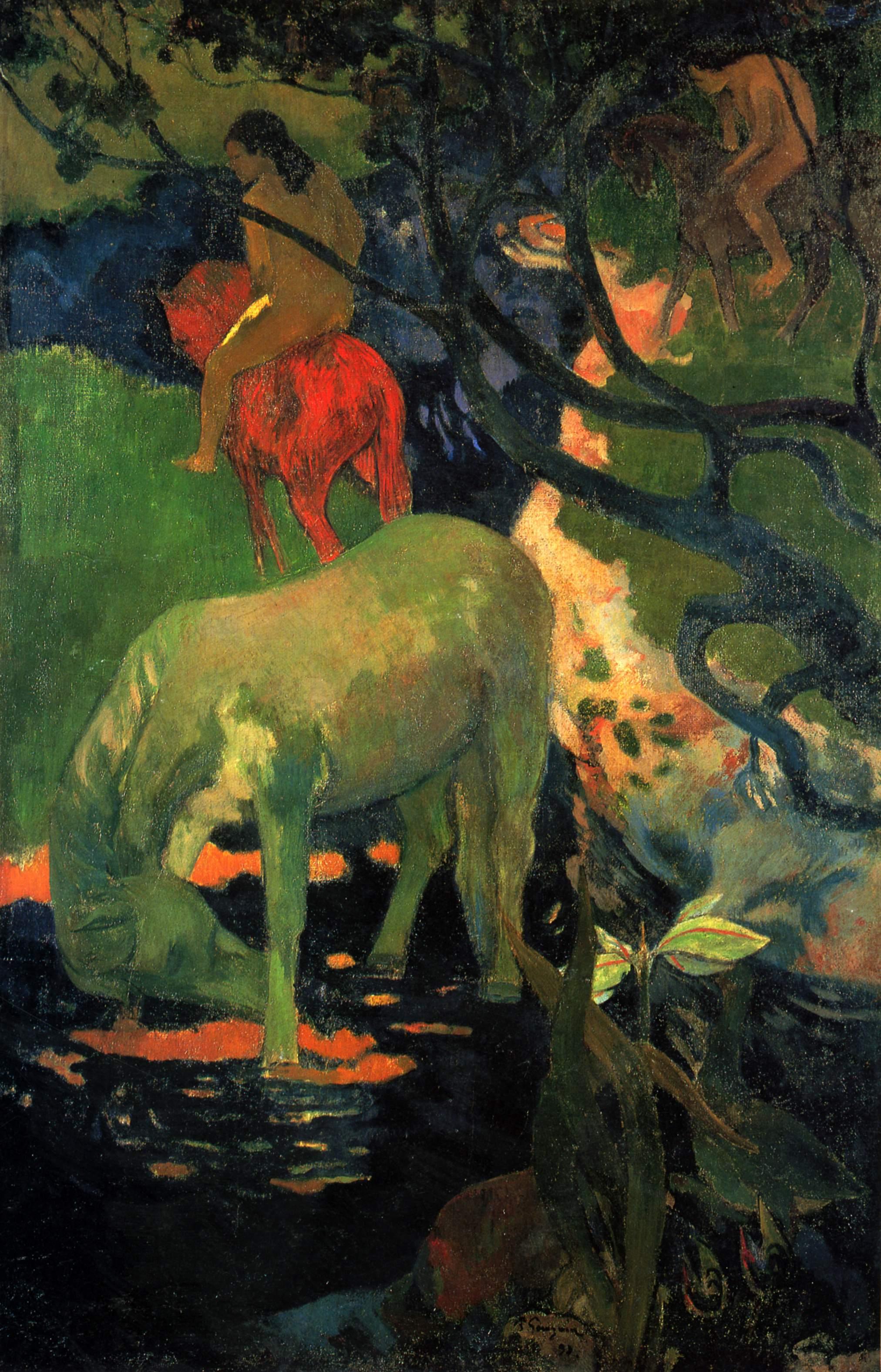 пейзаж Белая лошадь :: Поль Гоген - Paul Gauguin фото
