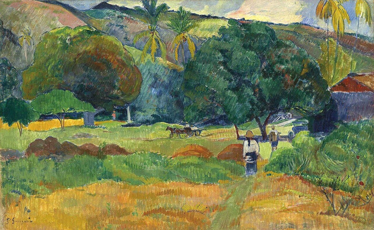 пейзаж <  Маленькая долина  > :: Поль Гоген - Гоген Поль ( Paul Gauguin ) фото