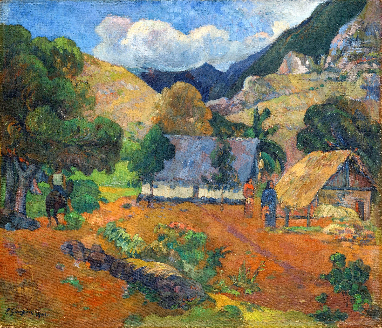 Пейзаж с тремя фигурами  :: Поль Гоген - Гоген Поль ( Paul Gauguin ) фото