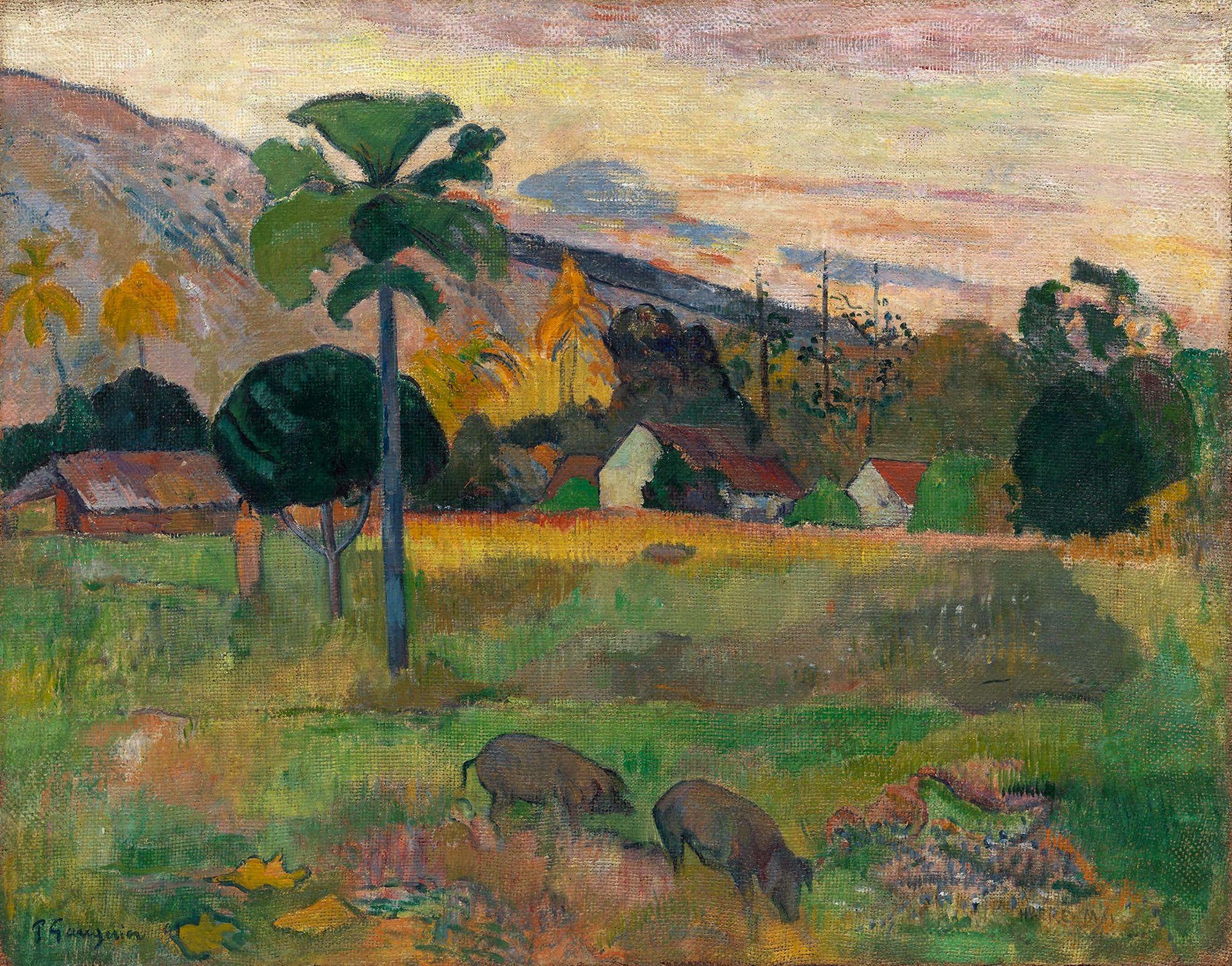 пейзаж Haere mai venezi ( Идите сюда) :: Поль Гоген - Paul Gauguin фото