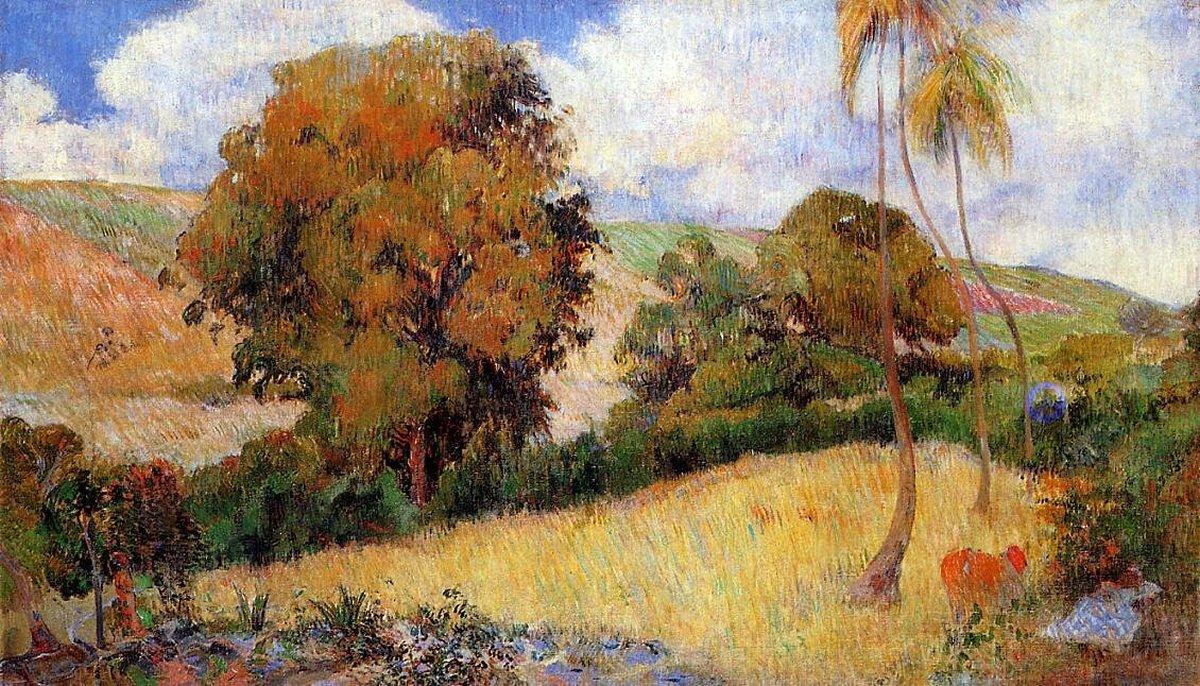 пейзаж Луг на мартинике :: Поль Гоген - Paul Gauguin фото