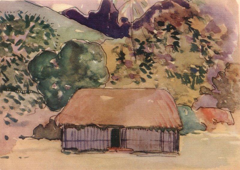 Хижина :: Поль Гоген - Paul Gauguin фото