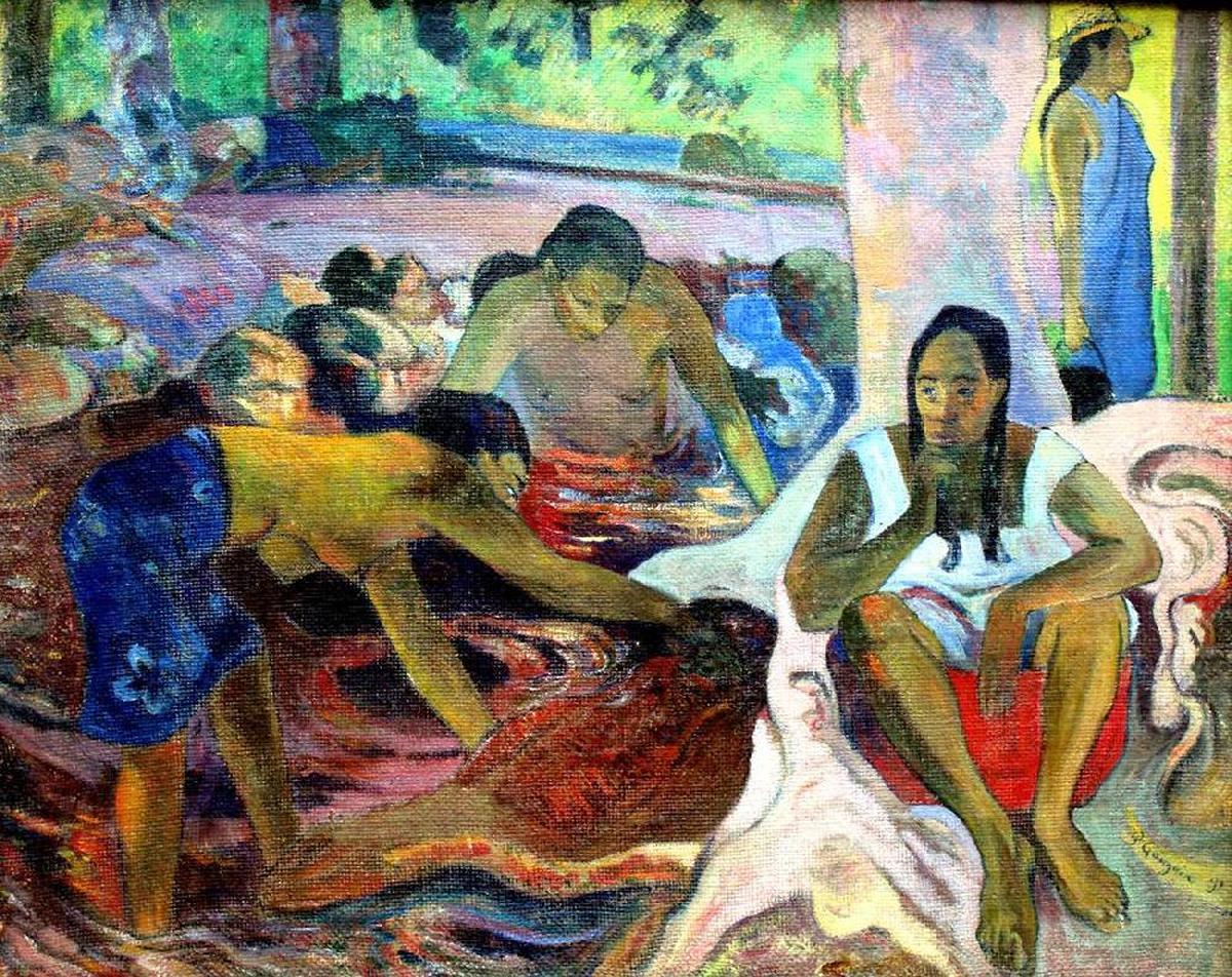 жанровая картина Таитянские рыбачки :: Поль Гоген - Paul Gauguin фото