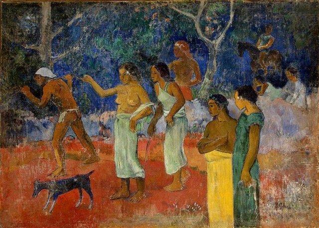 жанровая картина Сцены таитянской жизни :: Поль Гоген - Гоген Поль ( Paul Gauguin ) фото