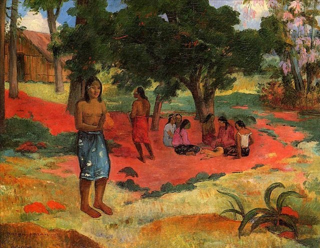 жанровая картина Paru Paru  ( шёпот II ) :: Поль Гоген - Гоген Поль ( Paul Gauguin ) фото