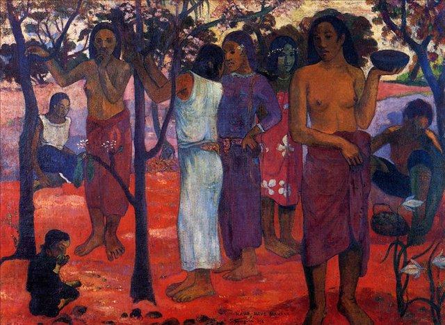 жанровая картина Nave Nave Mahana  ( прекрасные дни )  :: Поль Гоген - Гоген Поль ( Paul Gauguin ) фото