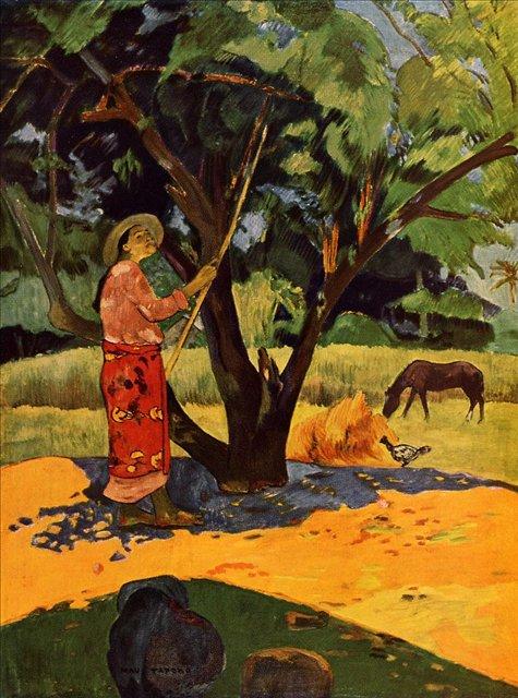жанровая картина < Mau Taporo ( сборщица лимонов ) > :: Поль Гоген - Гоген Поль ( Paul Gauguin ) фото