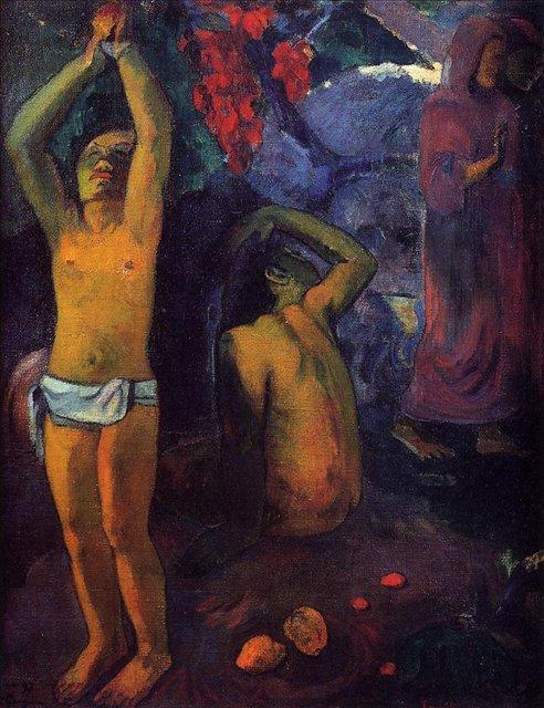 жанровая картина < Таитянин > :: Поль Гоген - Гоген Поль ( Paul Gauguin ) фото