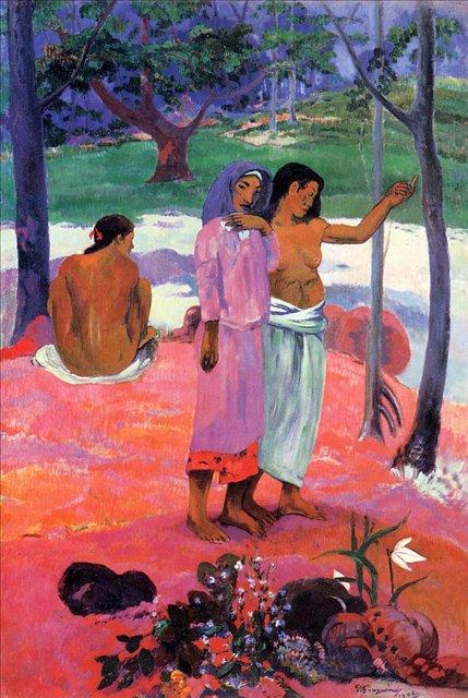 жанровая картина < Зов > :: Поль Гоген - Гоген Поль ( Paul Gauguin ) фото