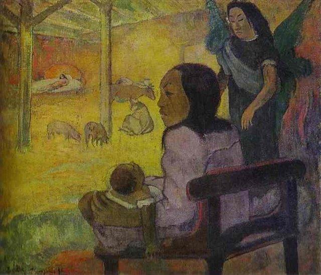 жанровая картина Ребёнок ( Рождество ) - Гоген Поль ( Paul Gauguin ) фото
