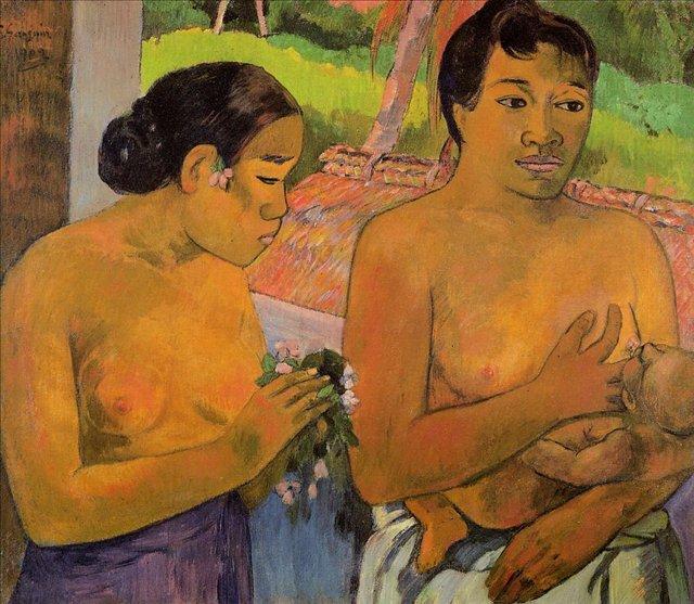 жанровая картина Жертва ( Дары ) :: Поль Гоген - Paul Gauguin фото