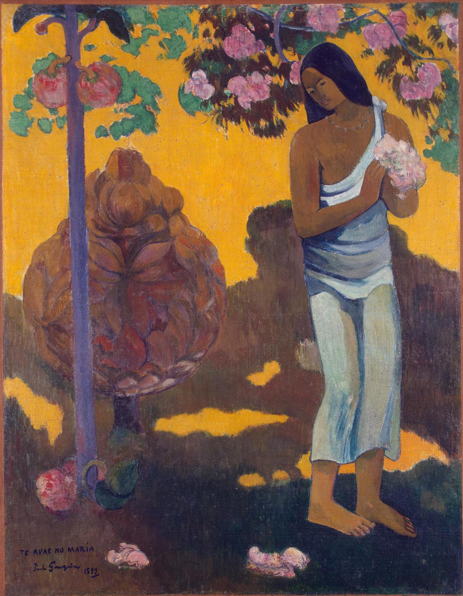 жанровая картина < te Avae No Maria  ( месяц Марии ) > :: Поль Гоген - Гоген Поль ( Paul Gauguin ) фото