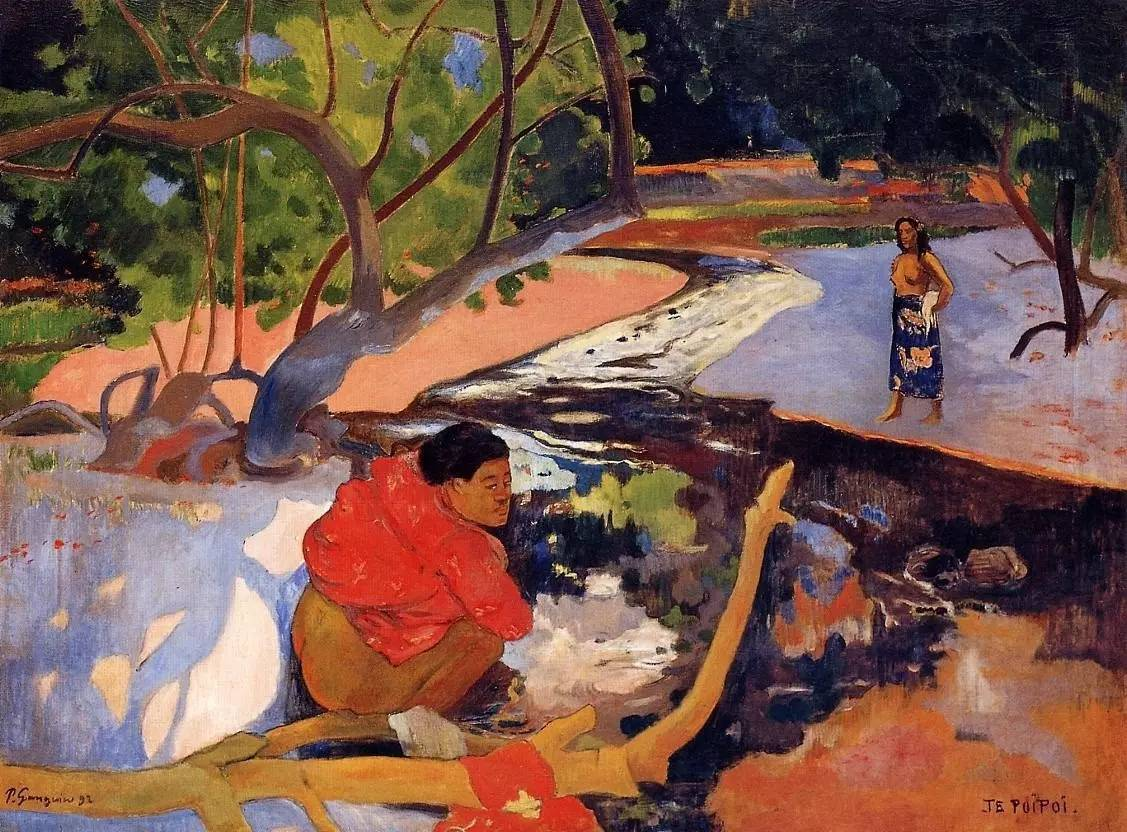 жанровая картина  Утро (Te Poipoi ) - Гоген Поль ( Paul Gauguin ) фото